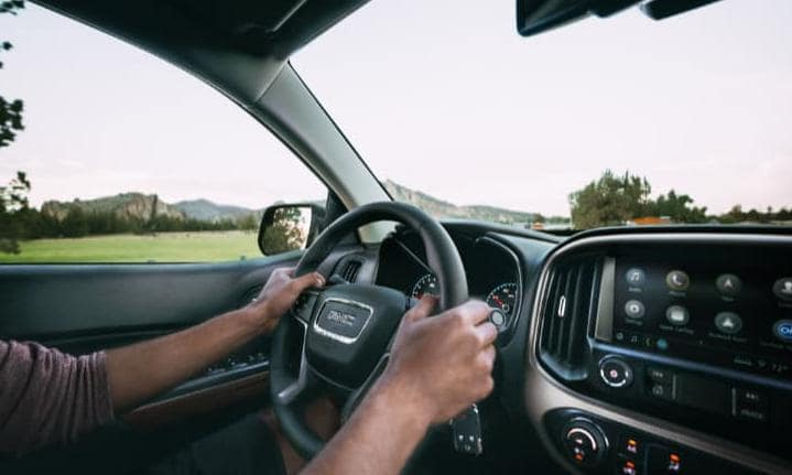 GMC Denali steering wheel interior front