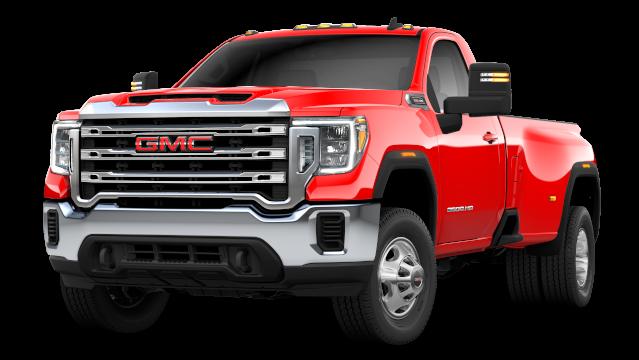 GMC Sierra 3500HD in red exterior SLE