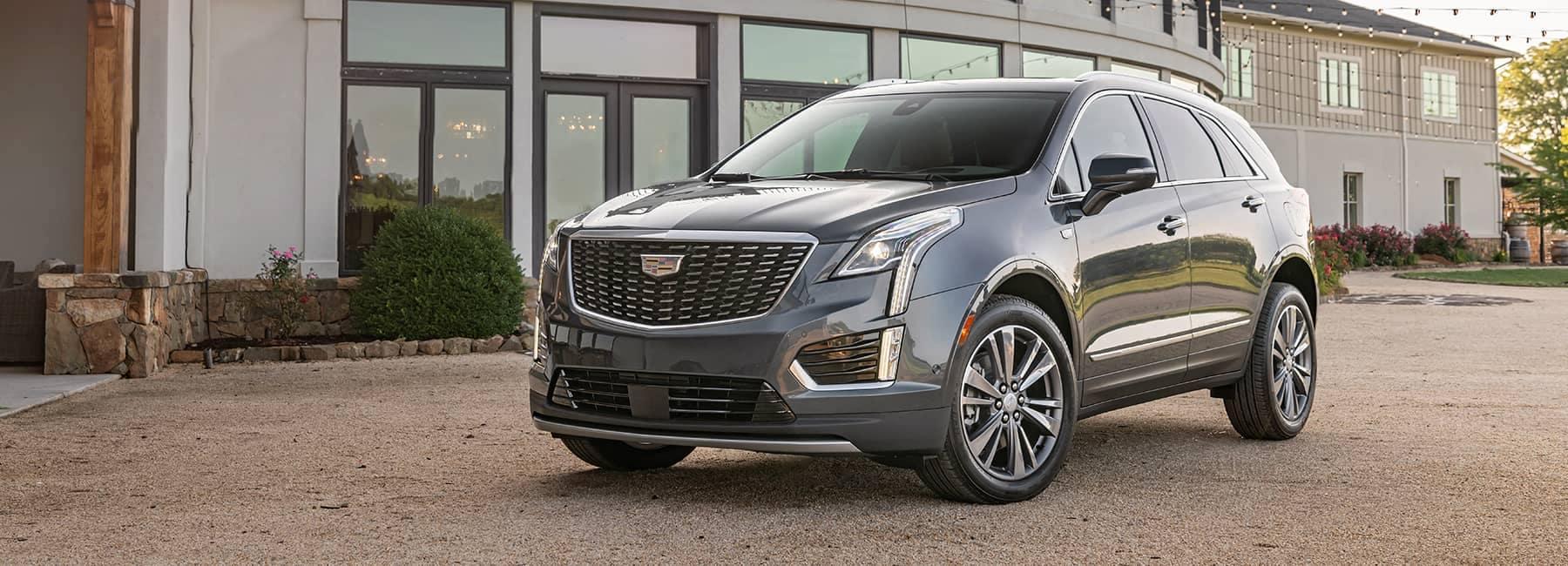 Cadillac parked at an angle