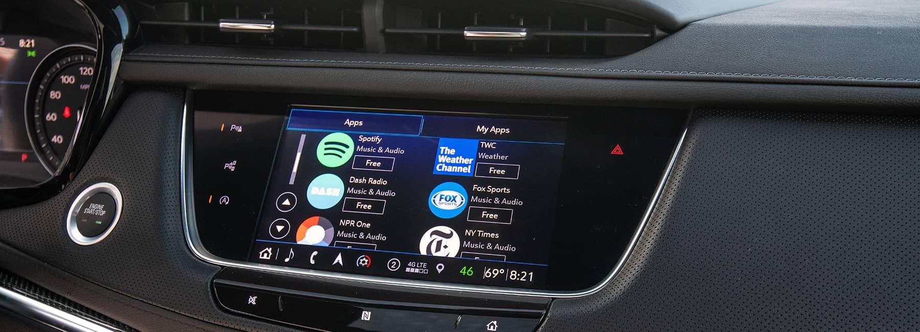 Cadillac dashboard apps