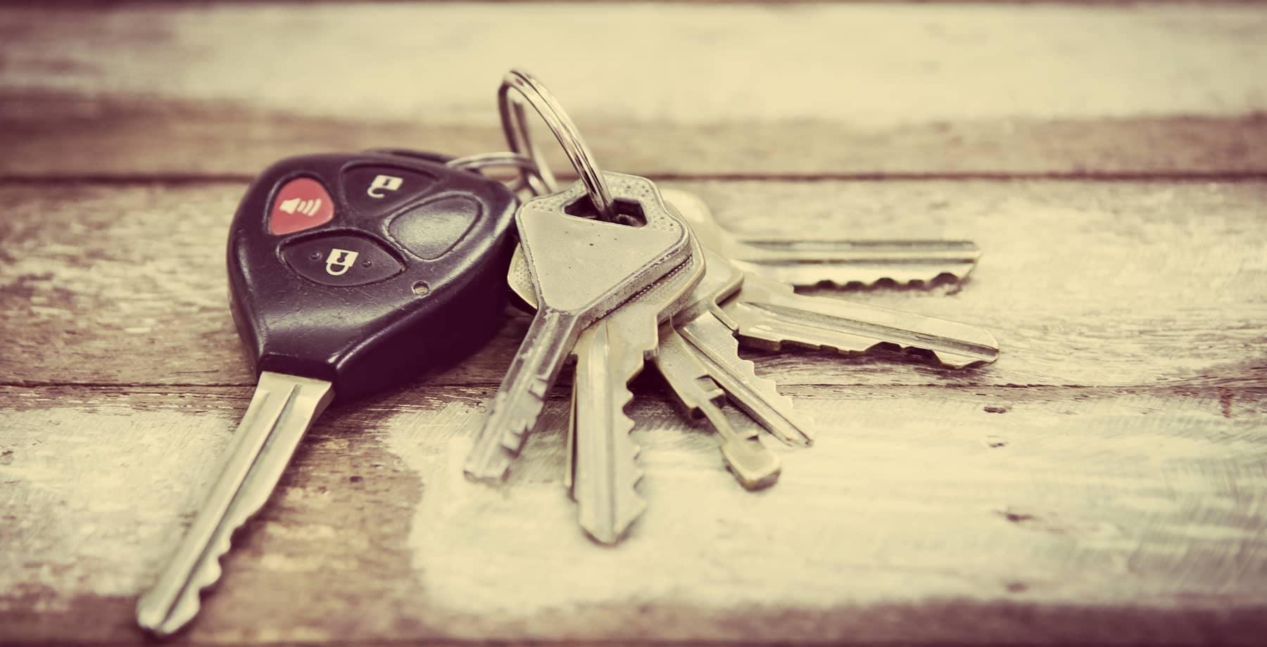 Car Keys on a wood table