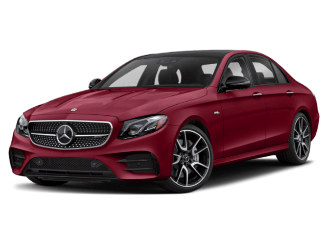 2020 Mercedes-Benz E-Class red angled