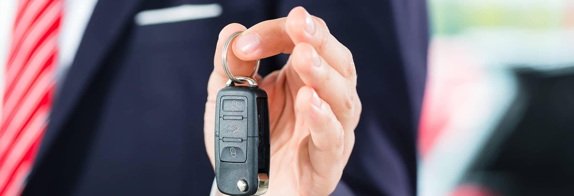 Car Key Fob being held