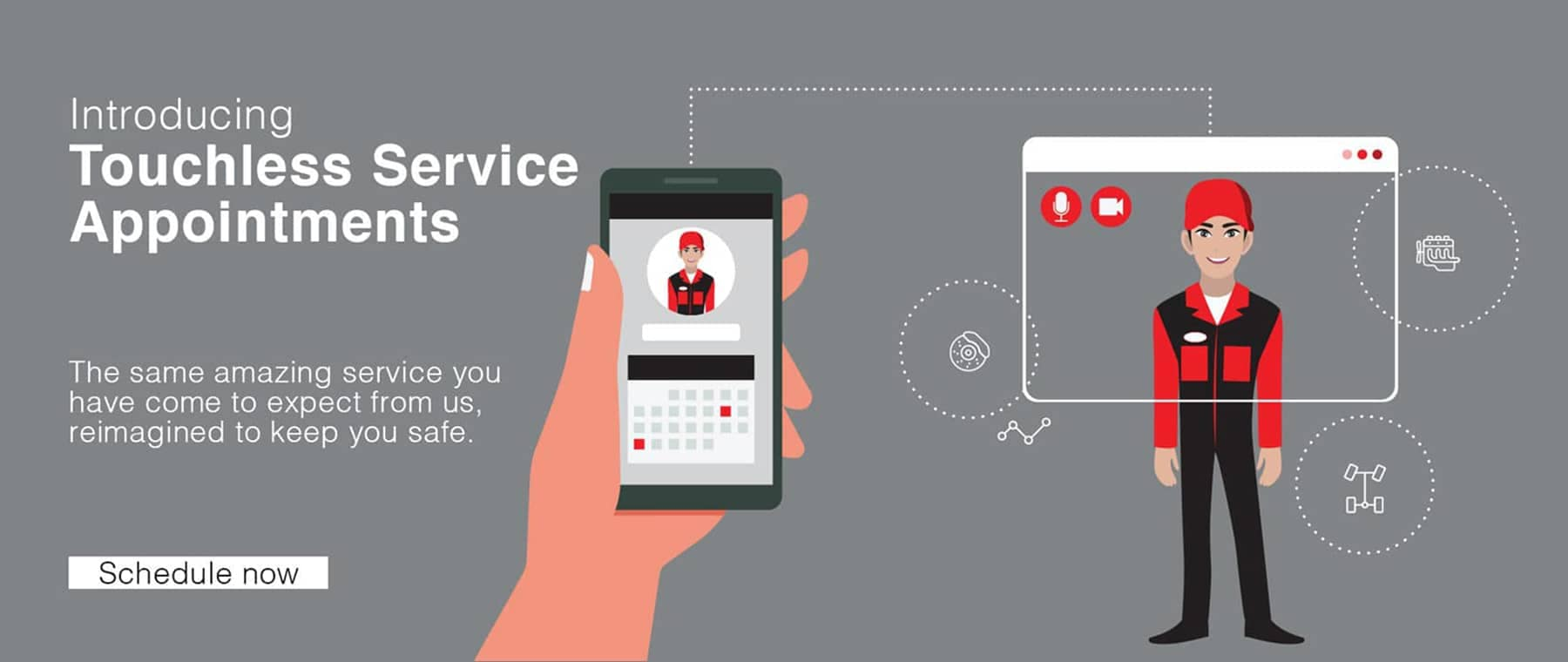 touchless service cartoon banner