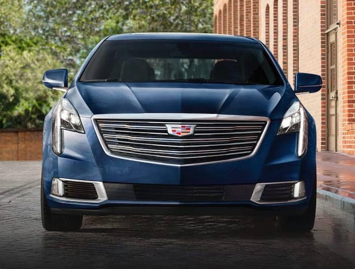 The front of a Cadillac sedan