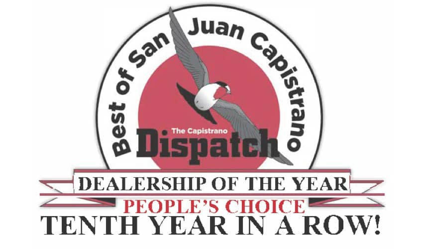 Capistrano Ford - Peoples Choice Award 10th Year in a row