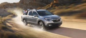 01 2019 Honda Ridgeline Exterior Front Angle Desert