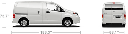 dimentions of nv200-compact-cargo