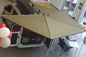 Optional wrap around awning