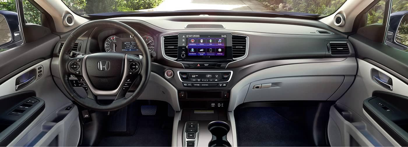 2021 Honda Ridgeline interior front seat and dashboard