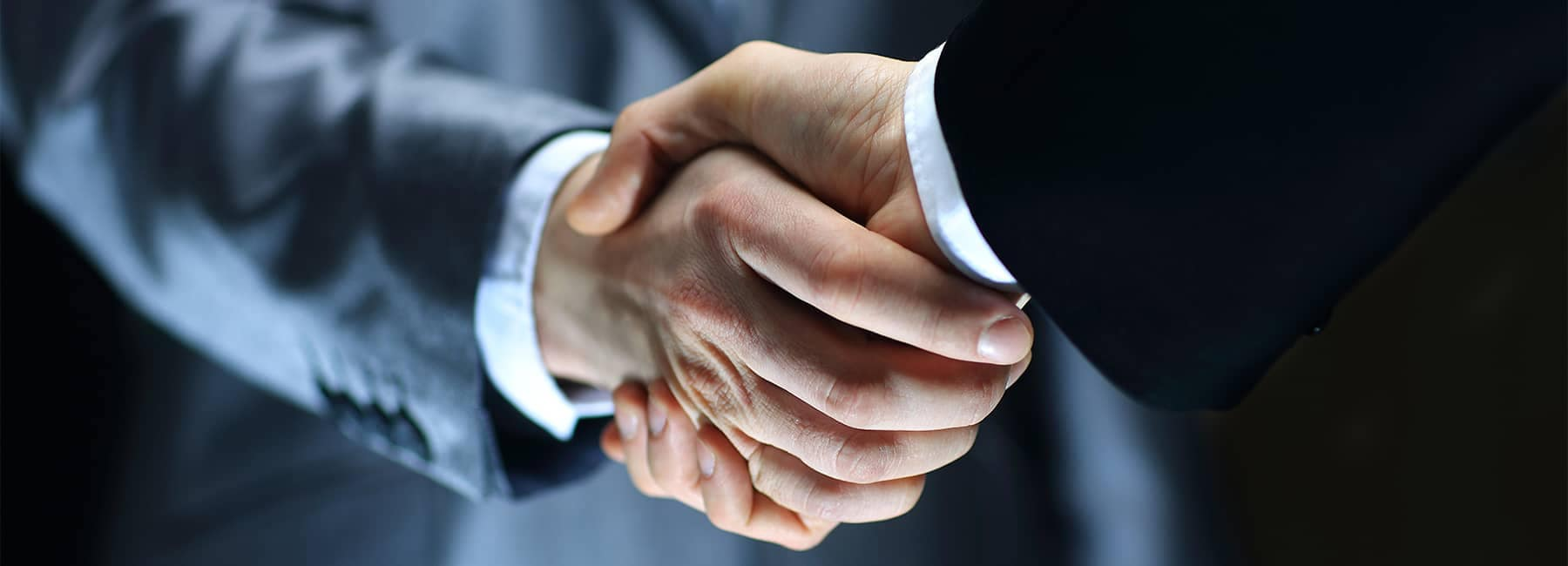 Businessmen in Suits Shaking Hands