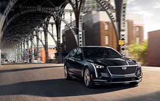 Cadillac under bridge