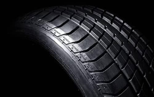 close up of car tire