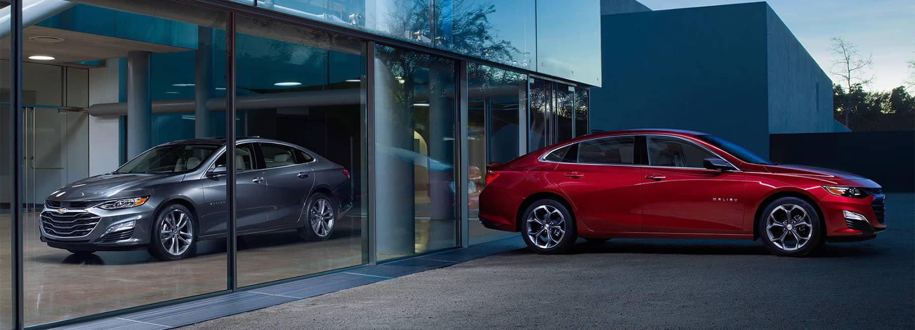 2019 Malibu Midsize Car Exterior Photo Side Profile and Front View