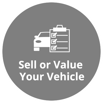 sell or value your vehicle icon homepage