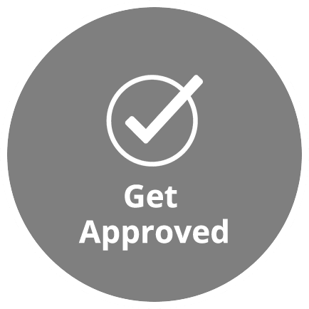 get approved icon homepage