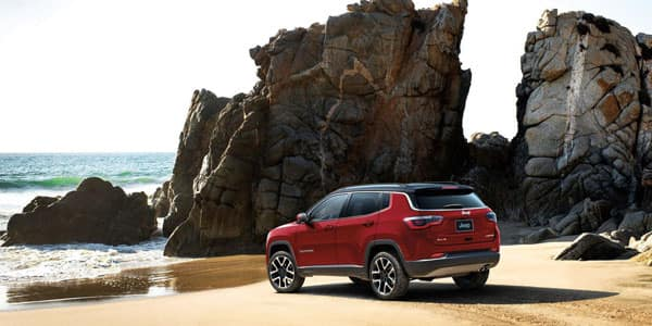 Jeep Compass Parked at Beach