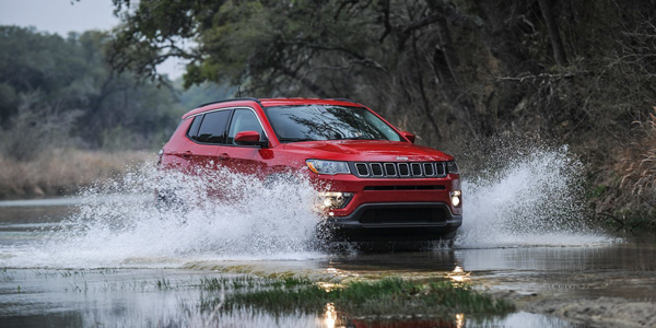 Jeep Compass Off-Roading Through Water