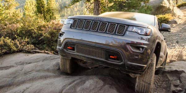 Jeep Grand Cherokee Off-Roading on Rocky Trails