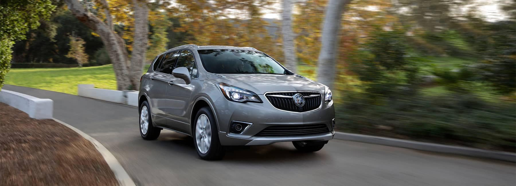 2020 Buick Envision Compact SUV Driving Front Side Exterior