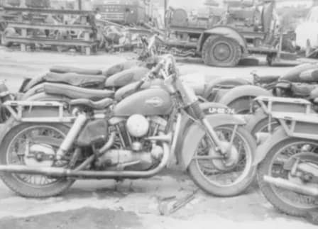 Old Harley-Davidson Motorcycle