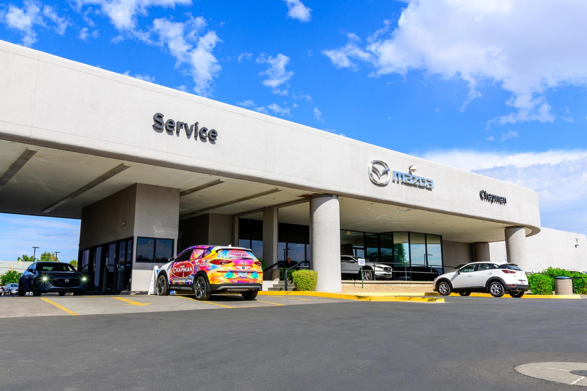 Chapman Mazda service center entrance