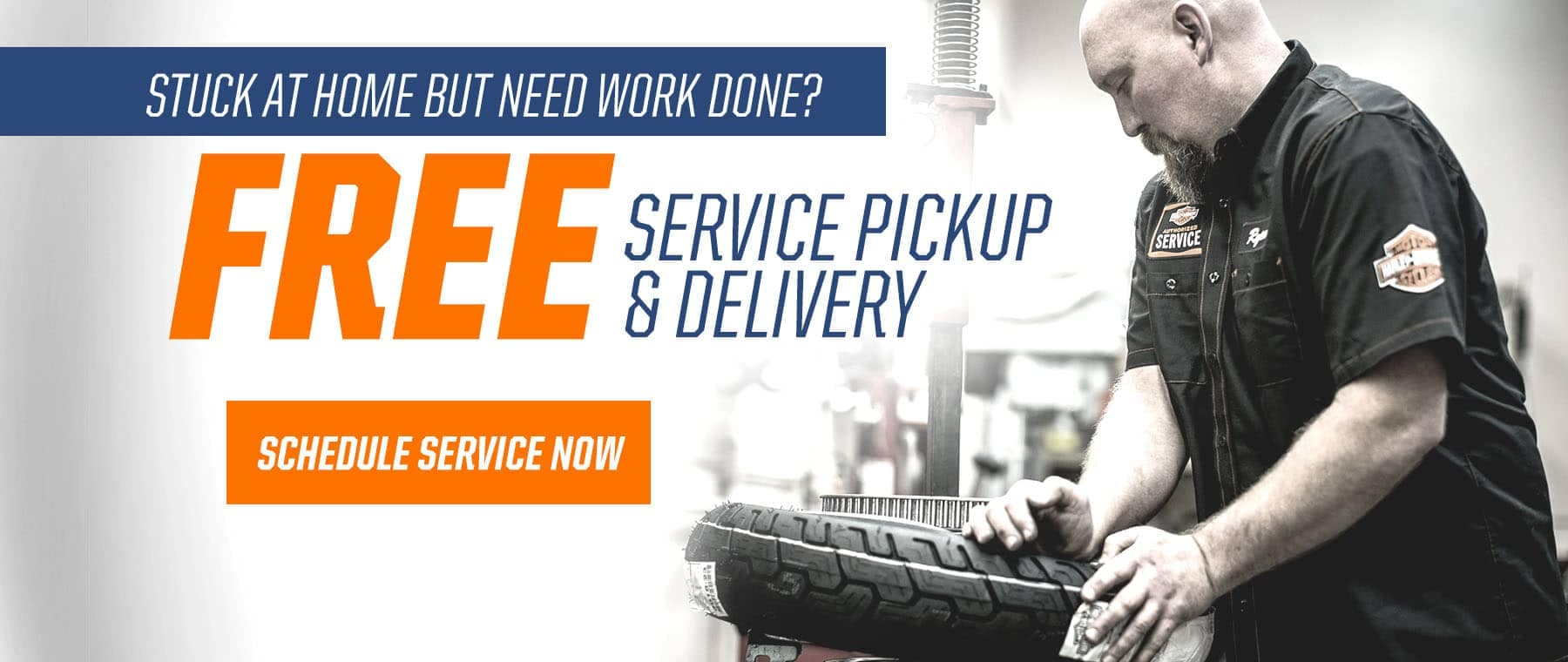 Service pick up & delivery banner