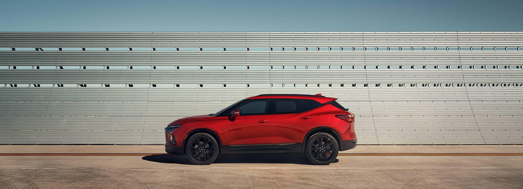 Red 2020 Chevrolet Blazer Sideview