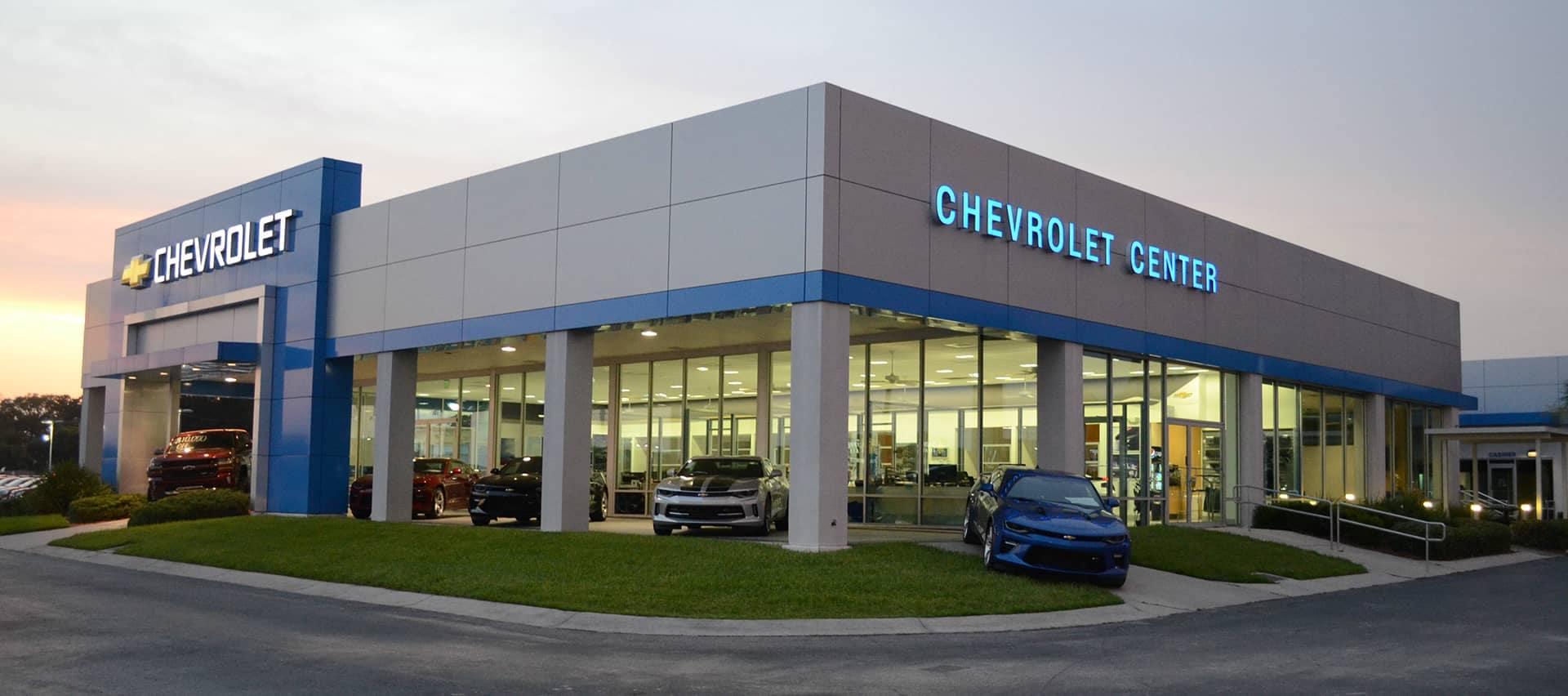 Chevrolet vehicles in an Interior Showroom