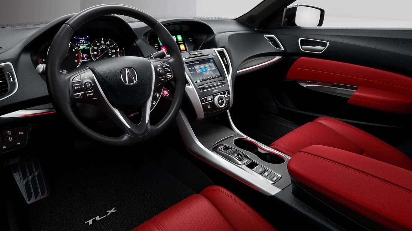 2018 Acura TLX Colors Red Interior