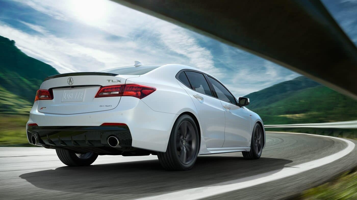 2019 Acura TLX White Back View