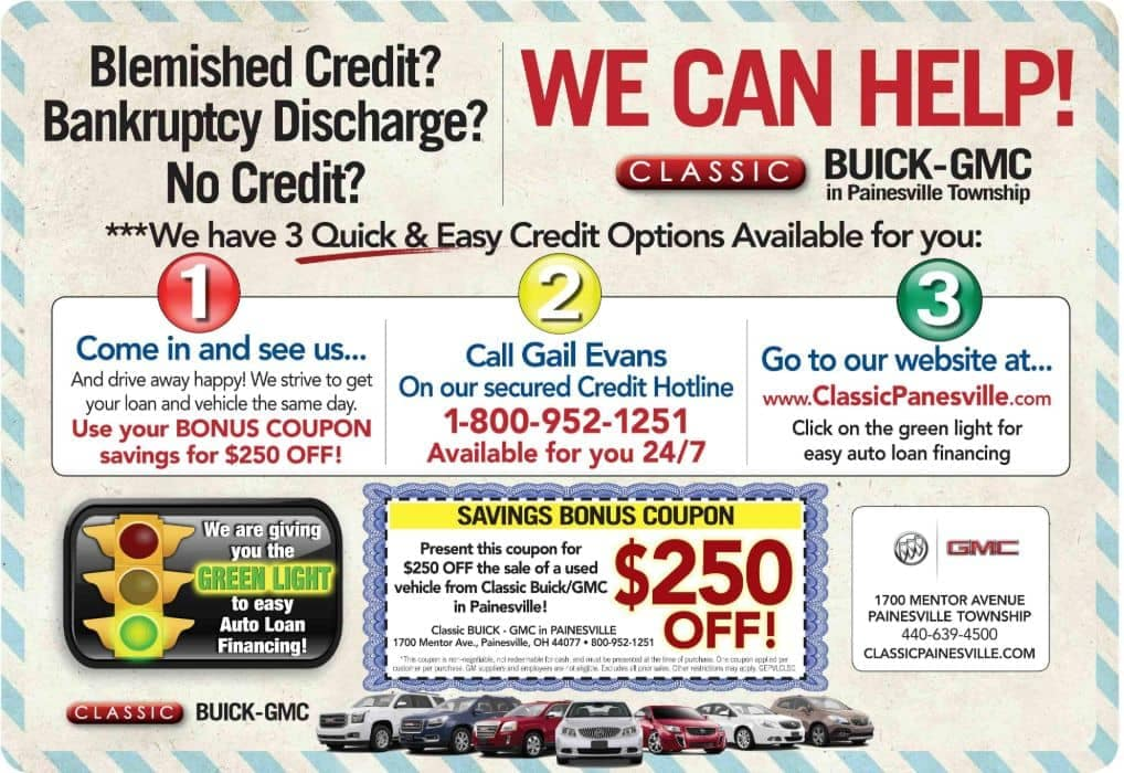 Easy credit options banner