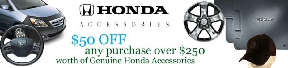 $50 off Genuine Honda Accessories