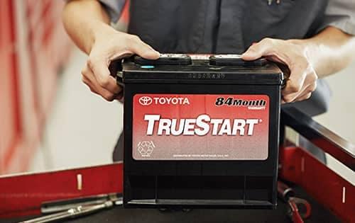 true start battery being put in car