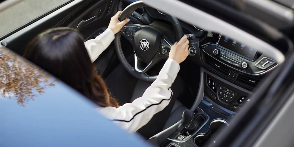 Woman Driving Buick Envision