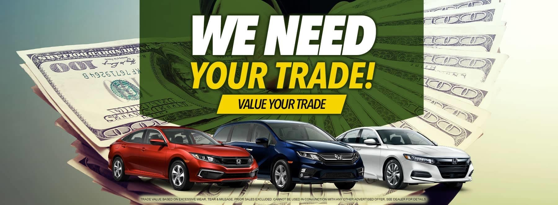 We Need Your Trade