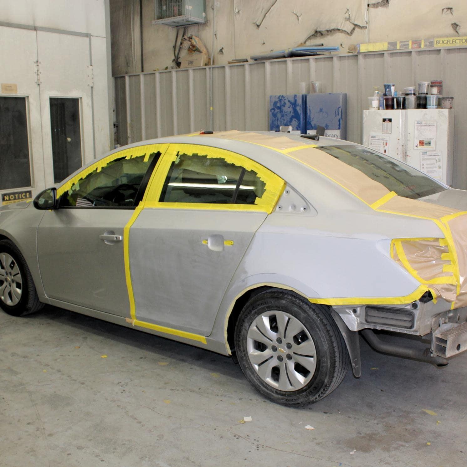auto body mid-repair