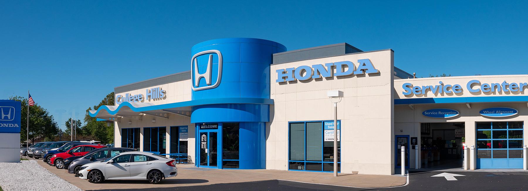 College Hills Honda dealership exterior