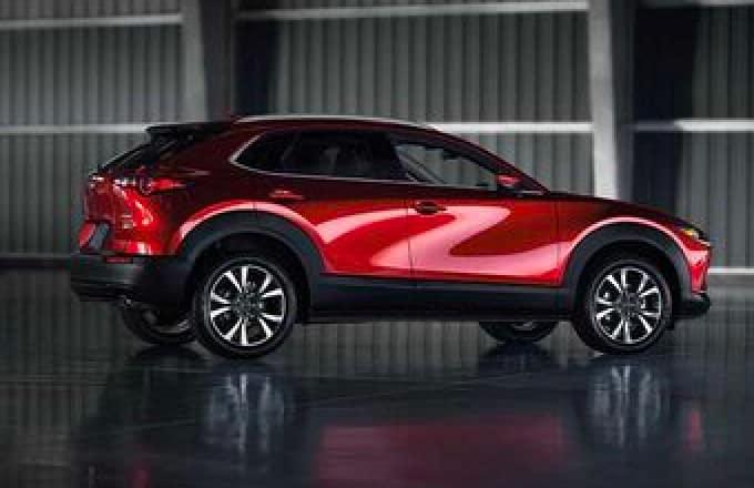 A red Mazda SUV