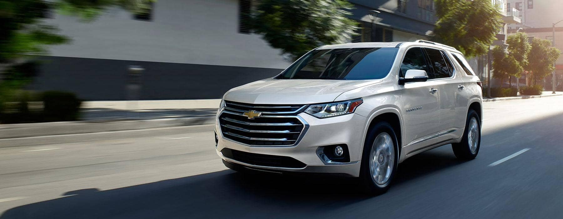 chevrolet driving on the road