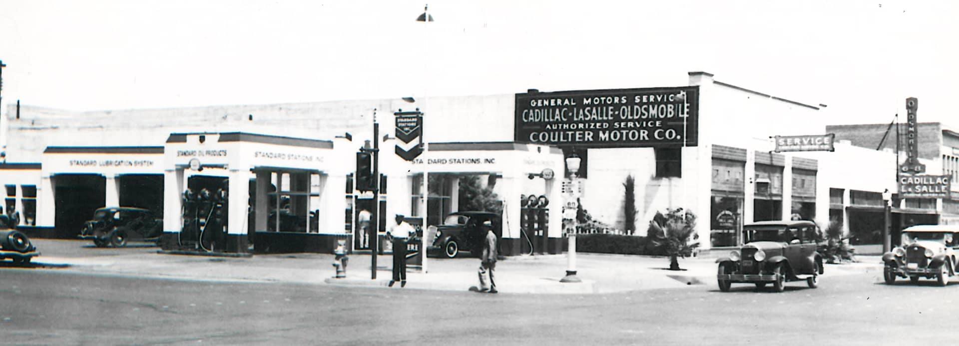 Coulter Motor Co Vintage Storefront