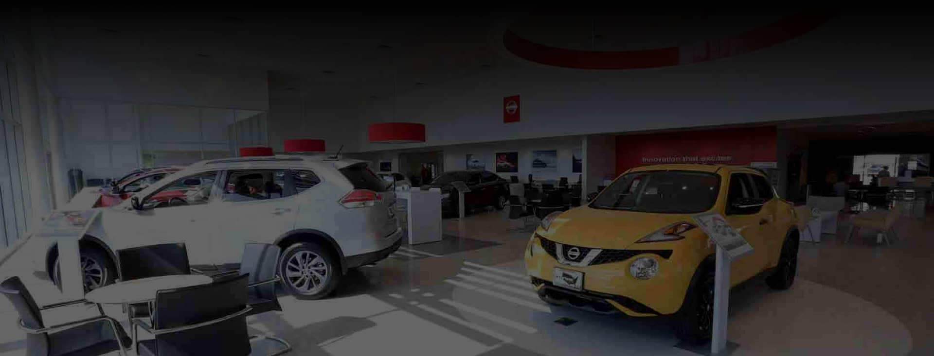 Courtesy Nissan dealership showroom