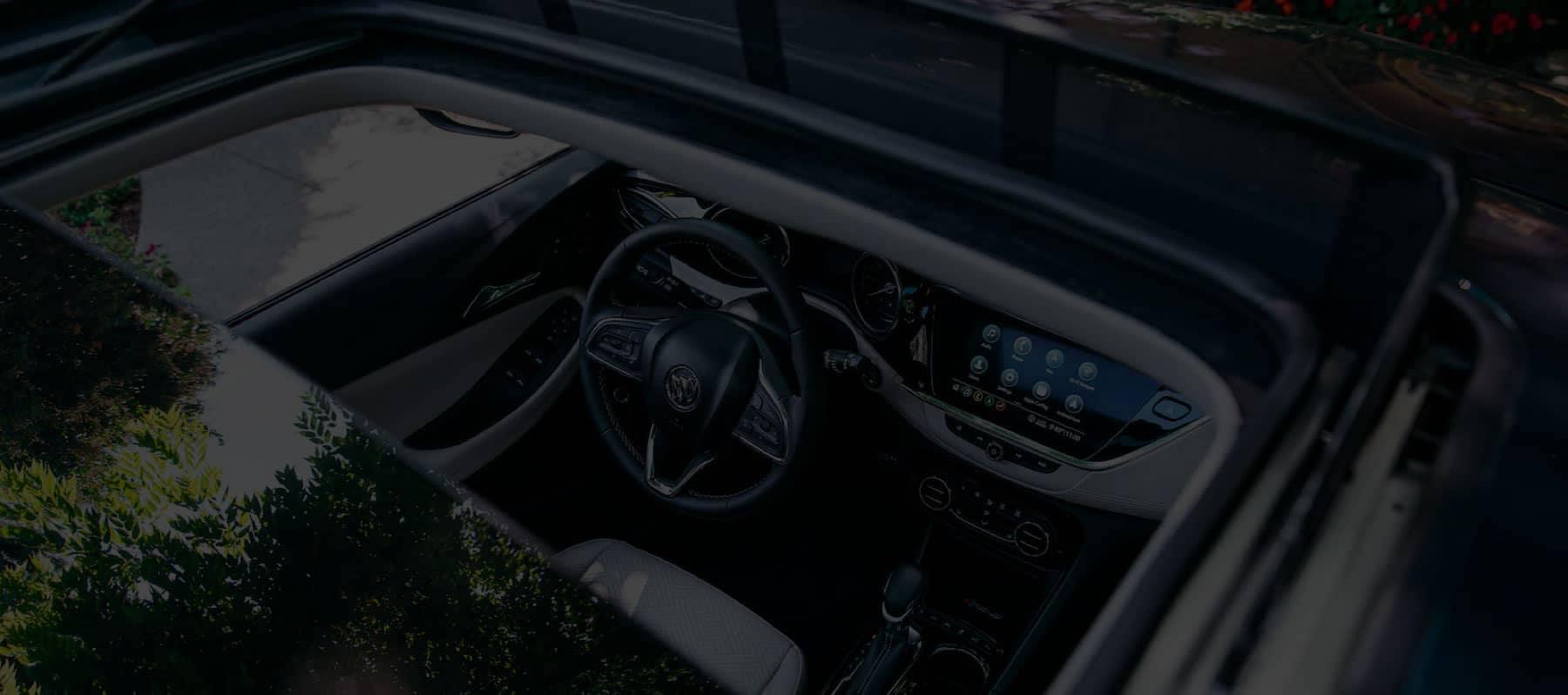 Buick interior as seen through the moonroof