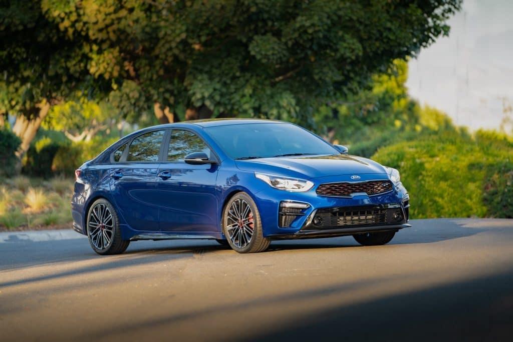 Kia Forte GT Sport front 3/4