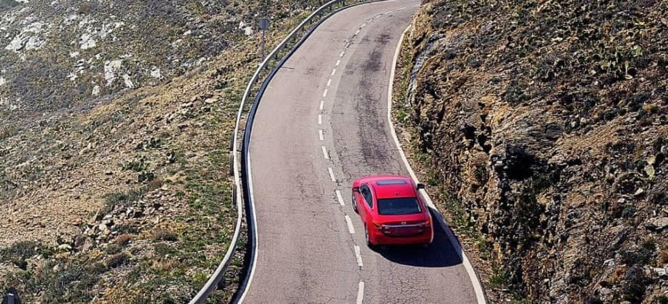 Mazda On Winding road
