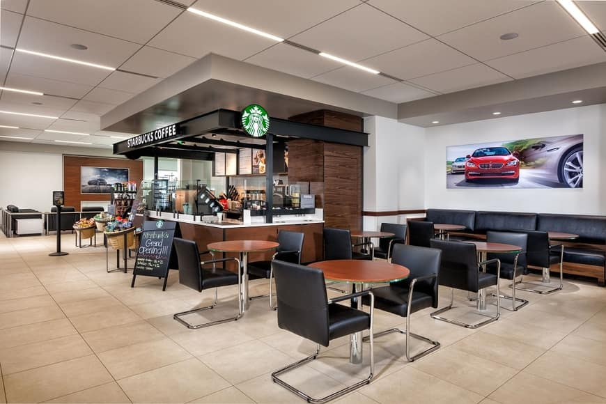 The Starbucks within Crevier BMW