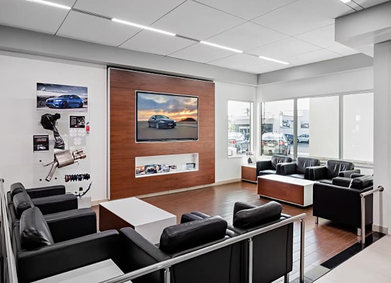 The lounge at Crevier BMW