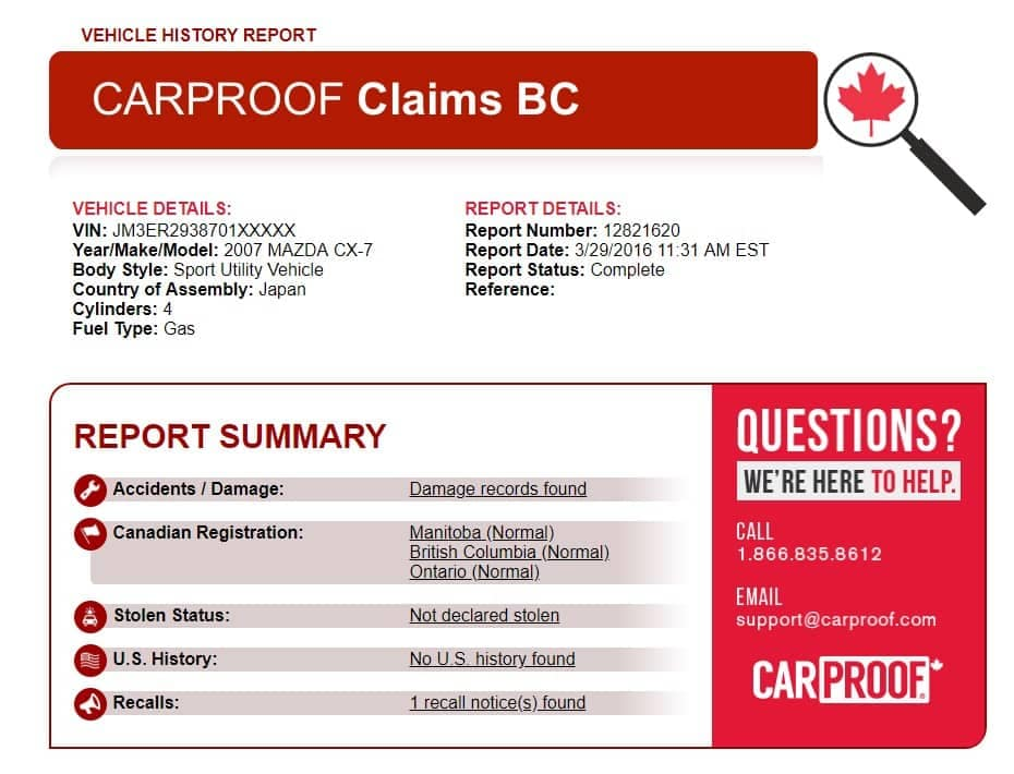 CarProof-Summary