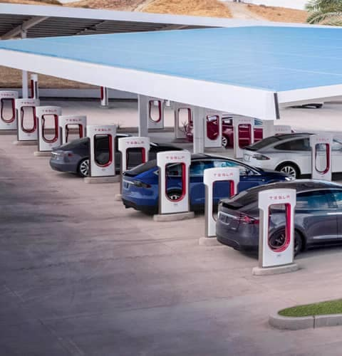 Tesla Supercharging Station