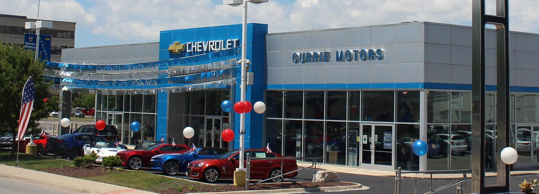 Outside view of the front of the dealership